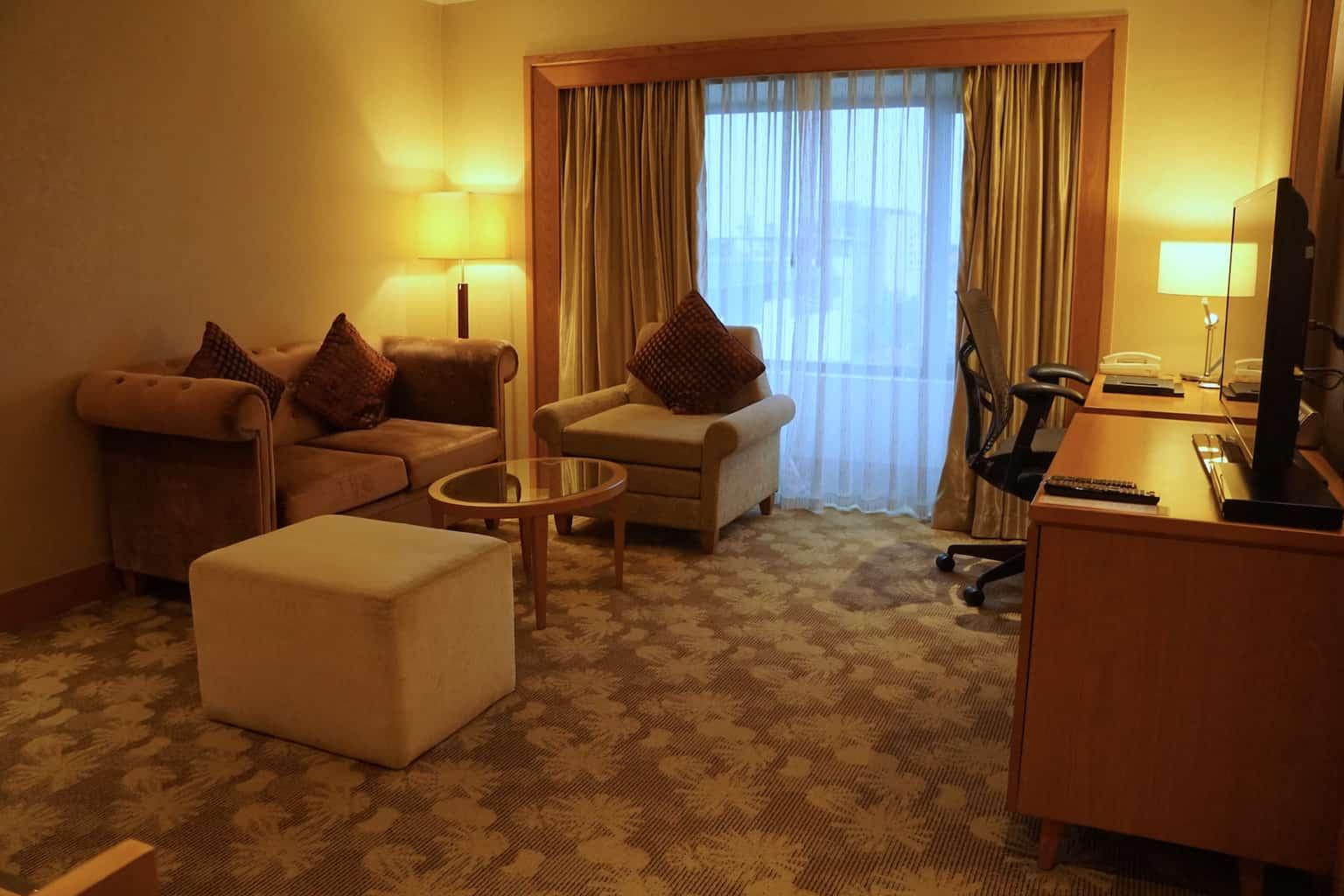 hotel suite living room