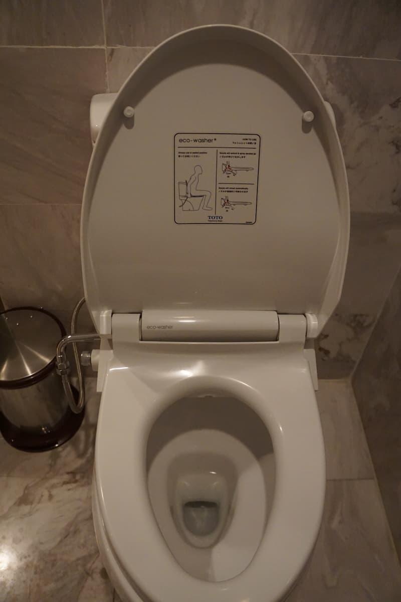 toilet with washlette