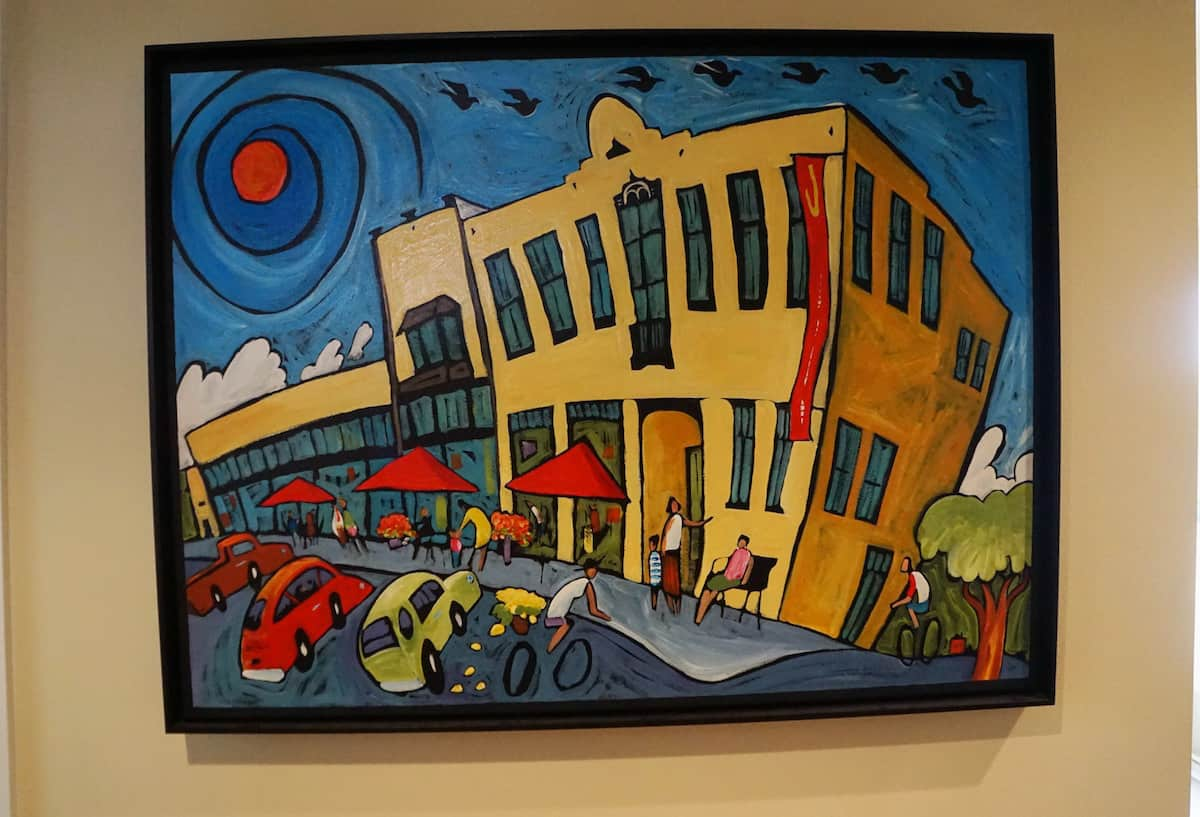 Painting of Jansen Art Center. Jansen Art Center offers some of the best things to do in Lynden, from live music, art and design classes, to tasty food. #thingstodoinLynden #Lynden #washington