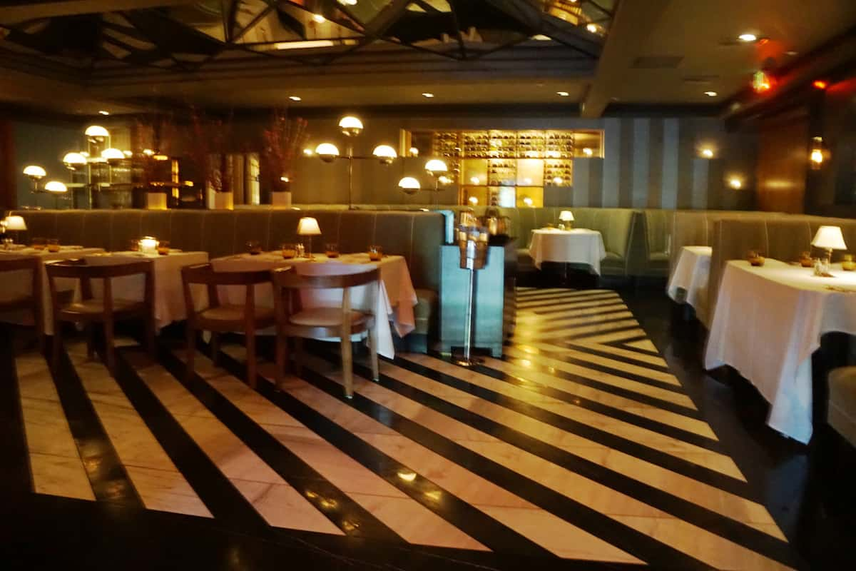 marble floor with black stripes