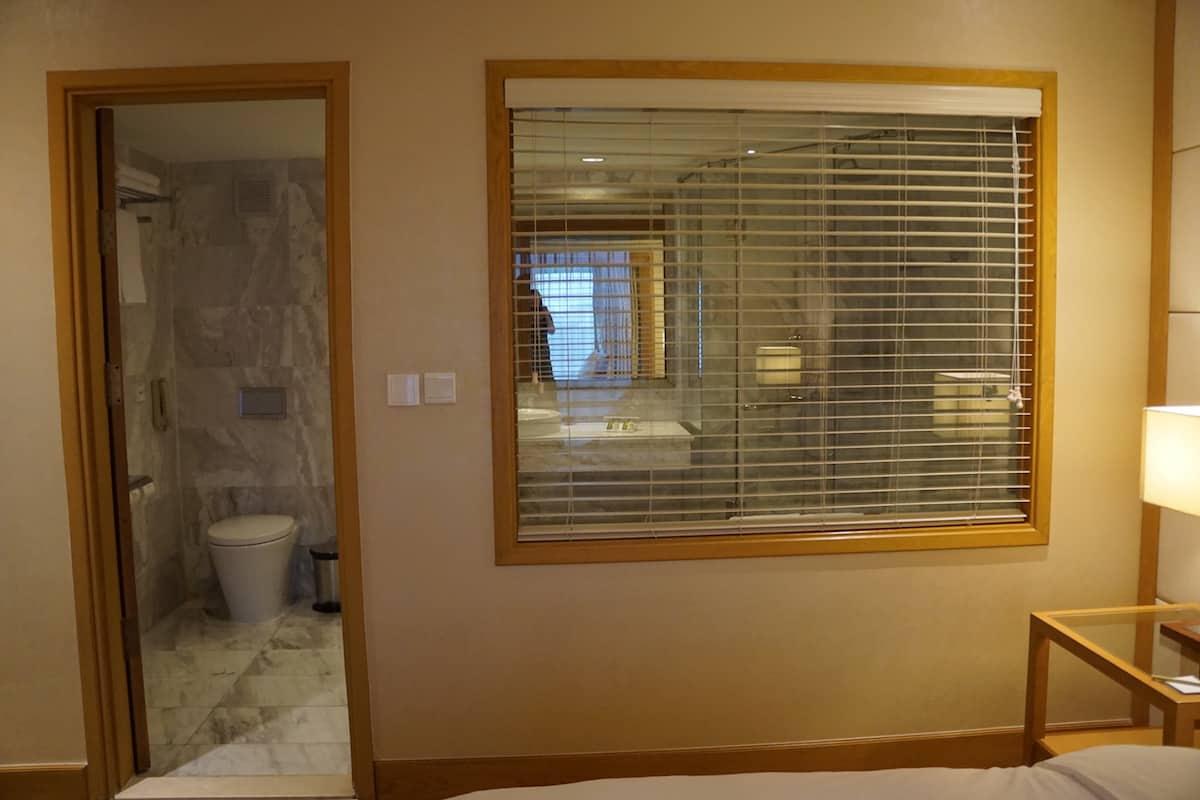 open hotel bathroom