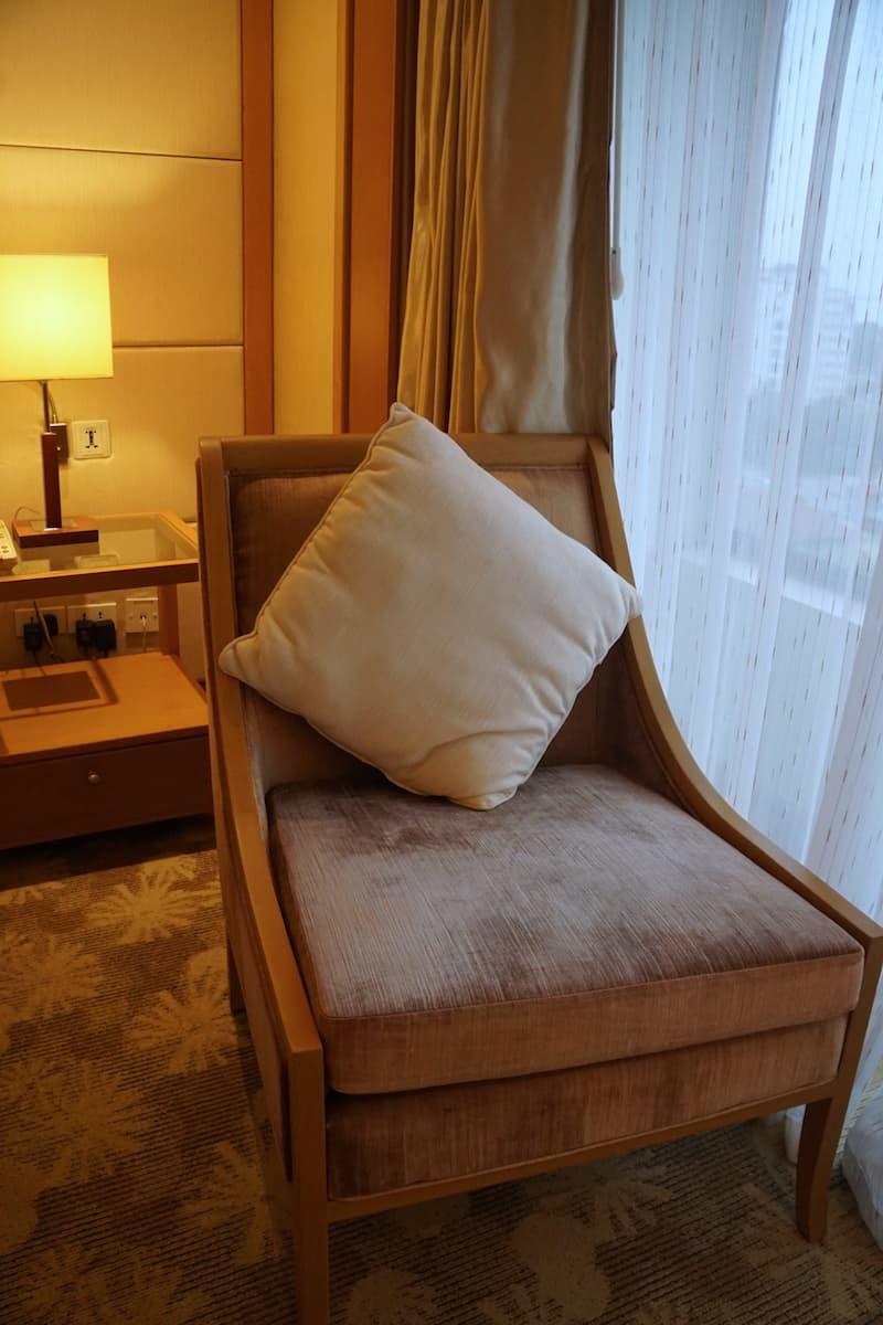 hotel bedroom chair