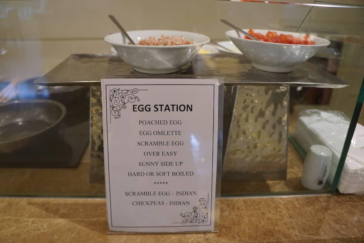 made to order egg station