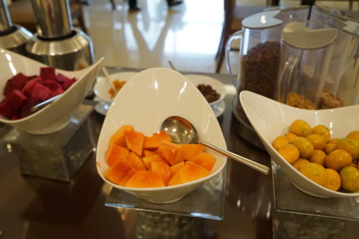 fruit at hotel buffet
