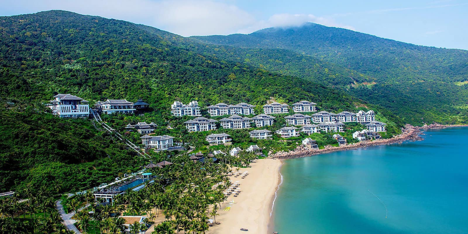 beachfront tropical hotel