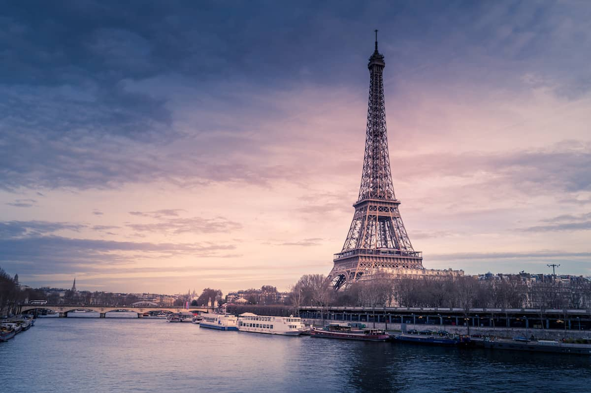 sunrise at Eiffel Tower, Paris, France
