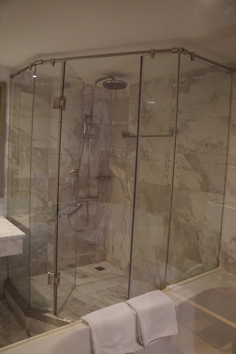 suite hotel room shower
