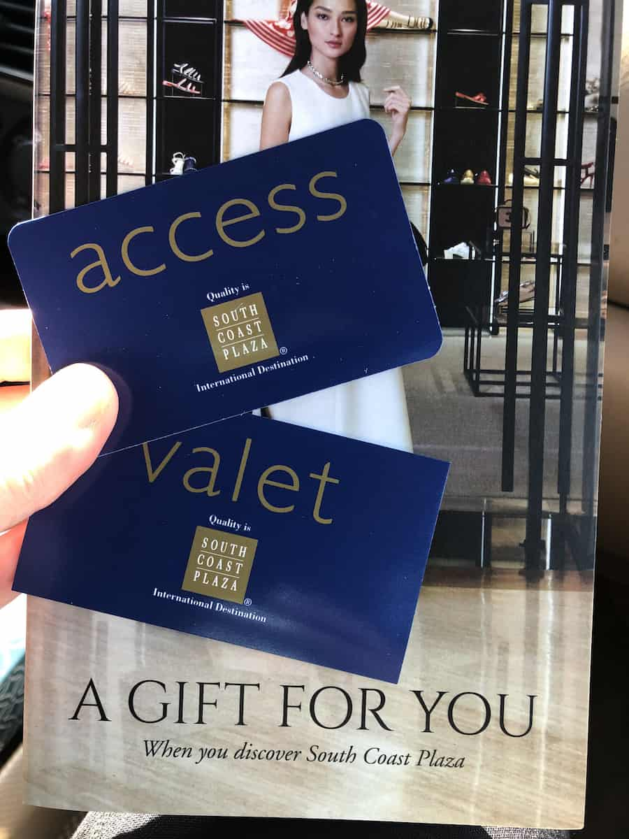 south coast plaza access suite lounge and valet pass