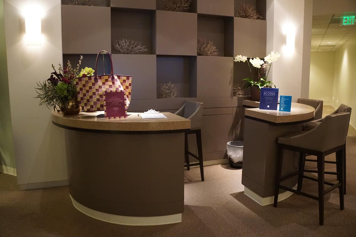desk at access suite lounge