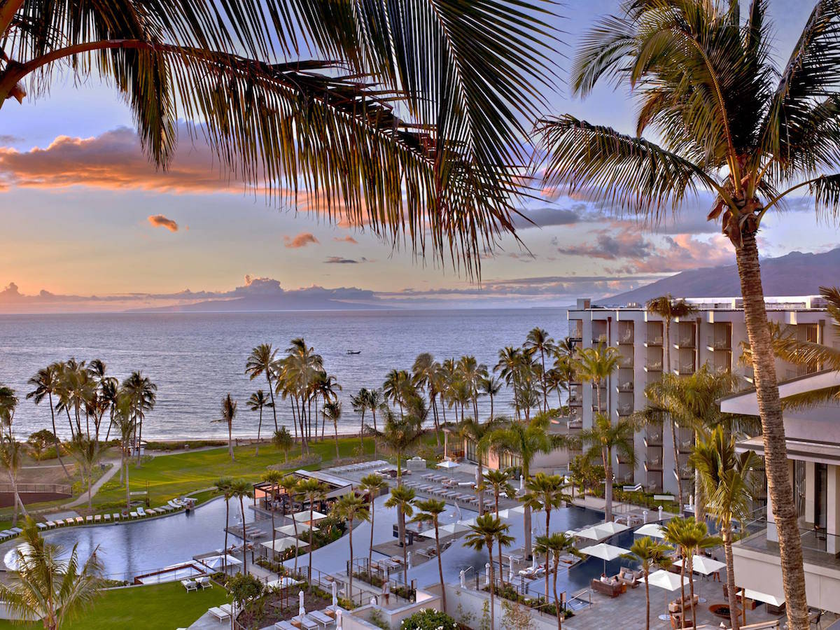 view of Andaz Maui at Wailea Resort overlooking the pool and beach