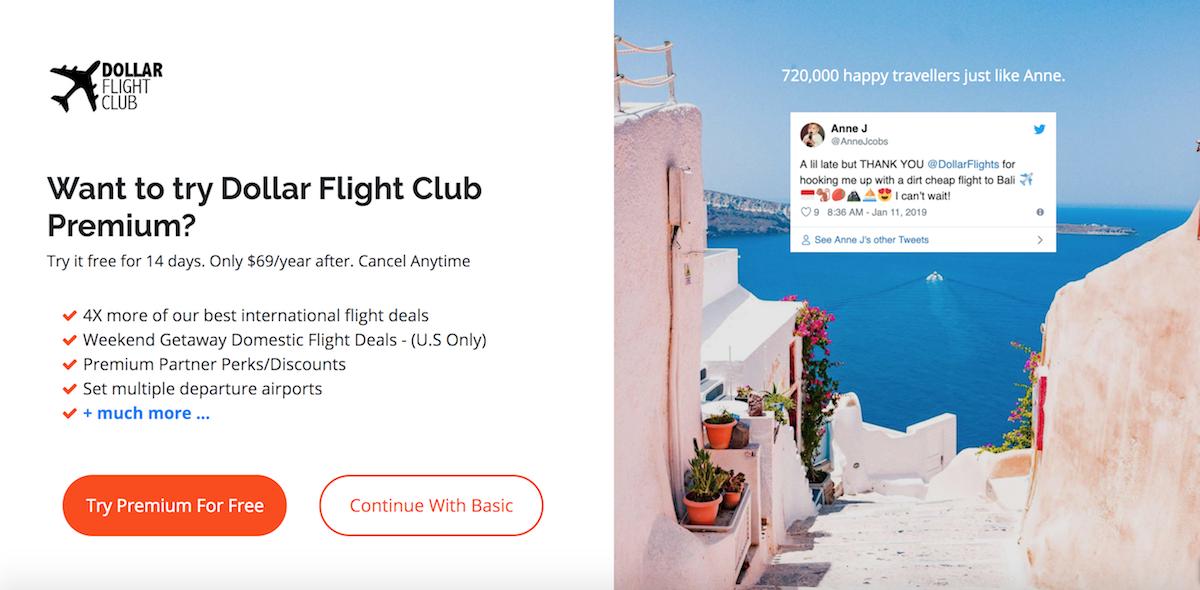 Choose a Dollar Flight Club membership
