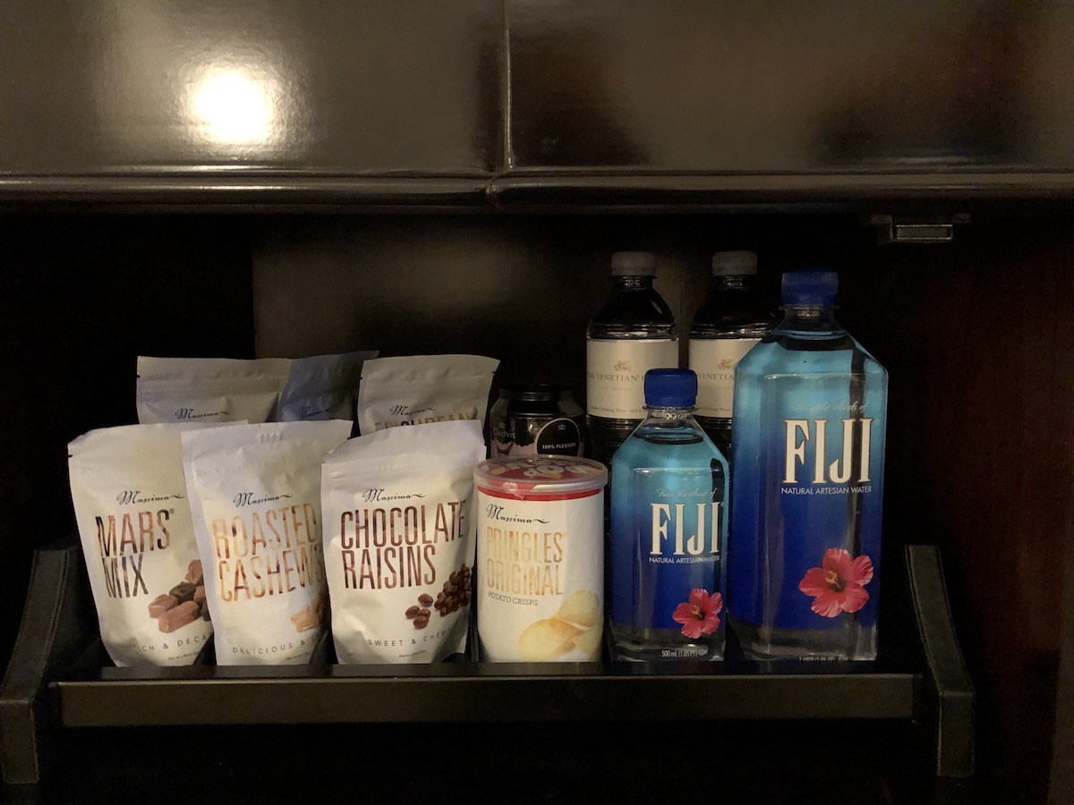snacks in suite at The Palazzo Las Vegas