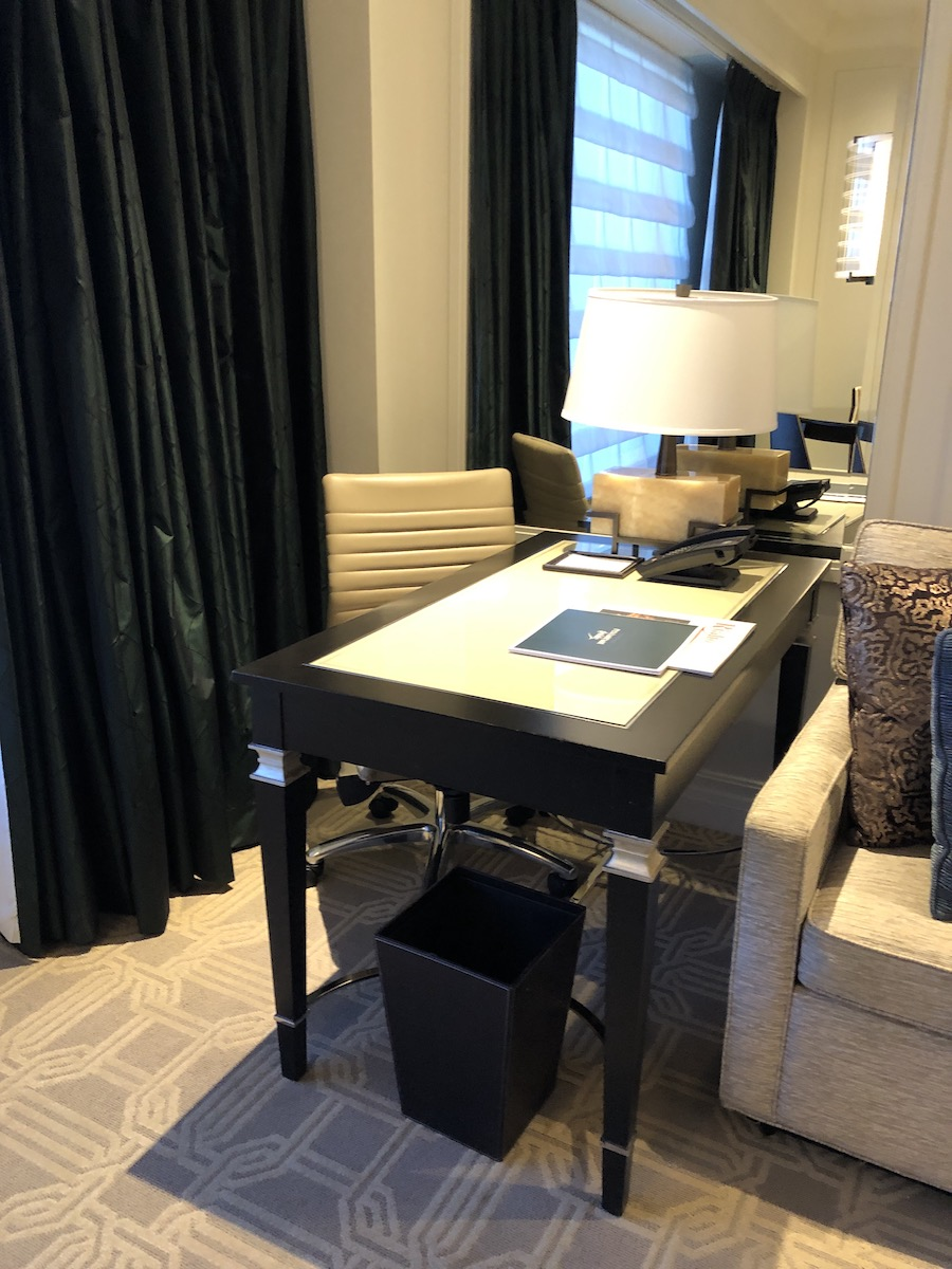 work desk in suite at The Palazzo Las Vegas