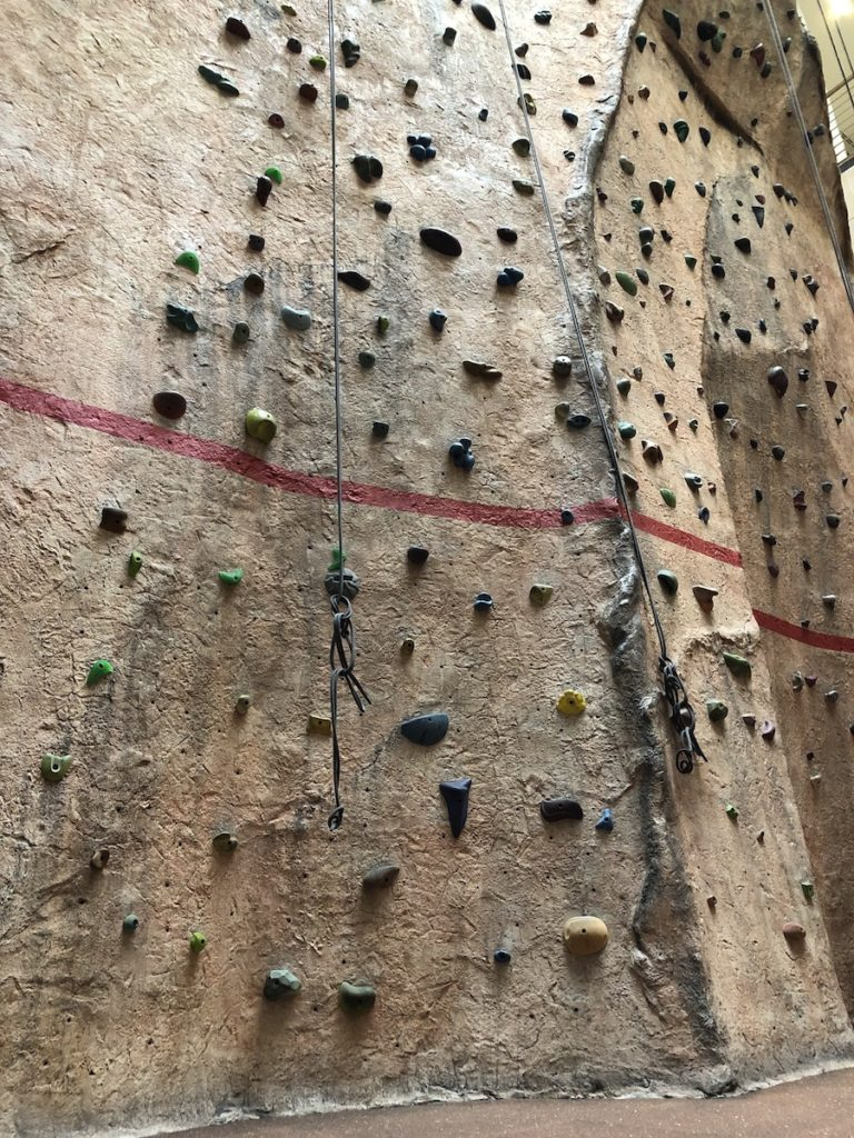 40 foot indoor rock wall