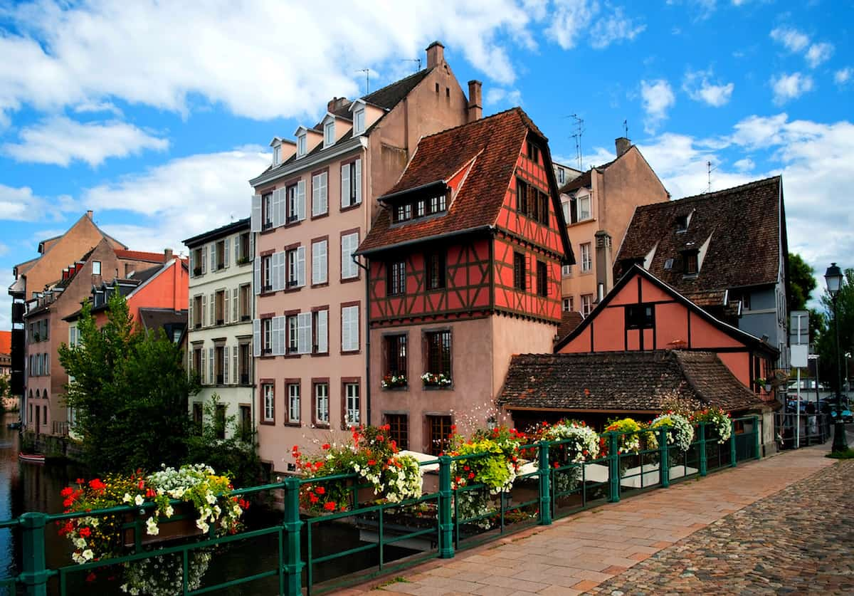 colorful buildings in Strasbourg France