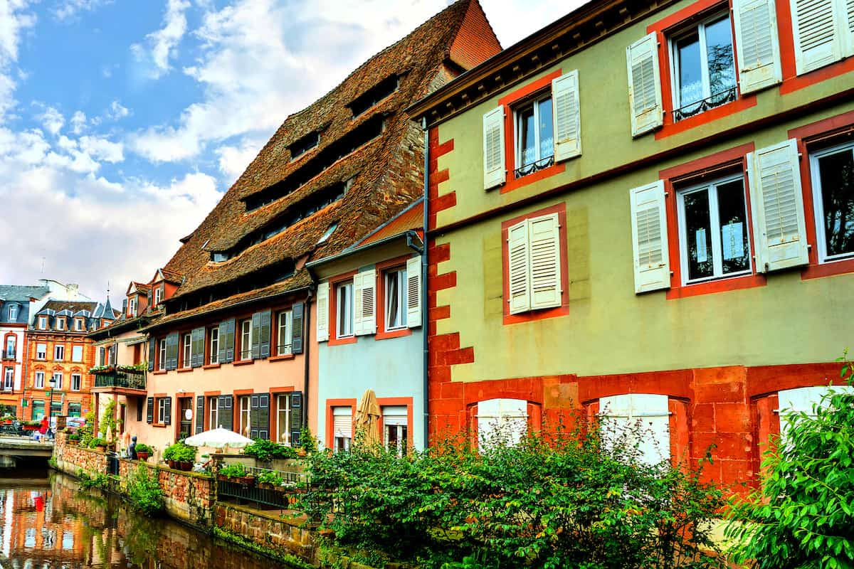 colorful buildings in Wissembourg Alsace France