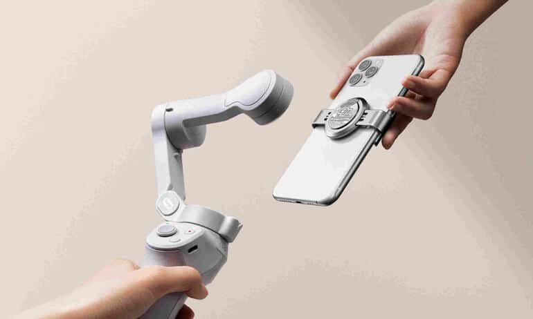 DJI OM 4 is a foldable, compact gimble for smartphones