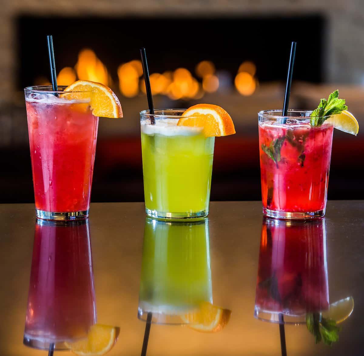 colorful bar drinks