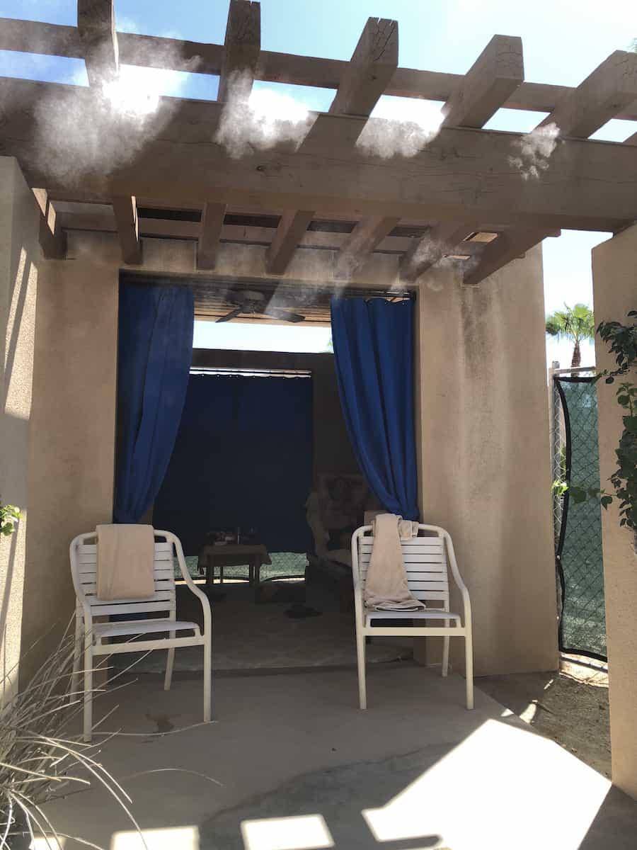 outside of pool cabana