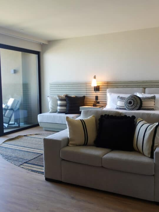 beachfront luxury hotel room