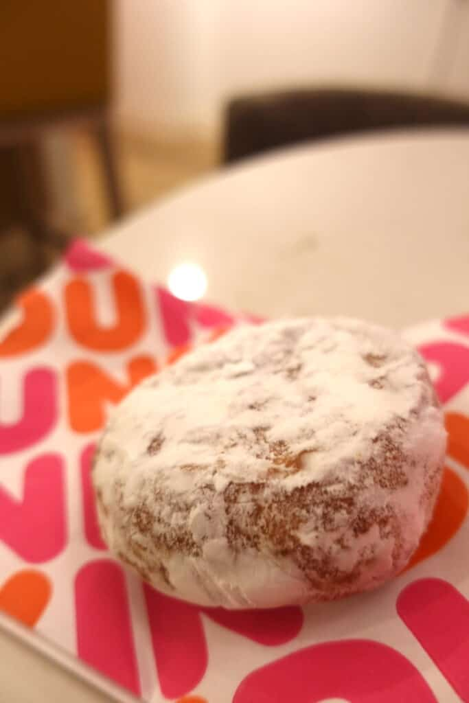 powdered sugar donut