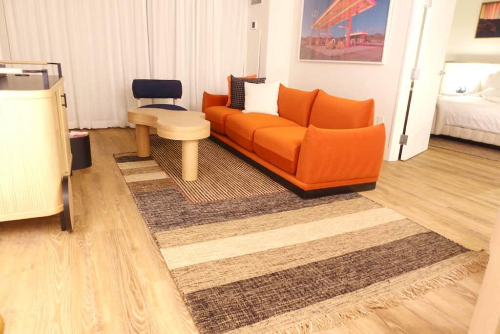 hotel suite sofa