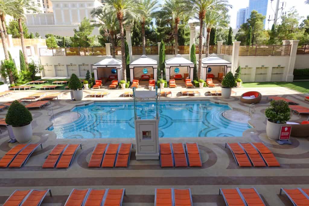 resort pool in Las Vegas at Caesars Palace Las Vegas