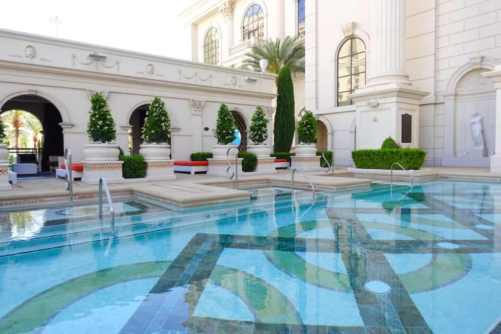 intimate VIP pool in Las Vegas at Caesars Palace Las Vegas