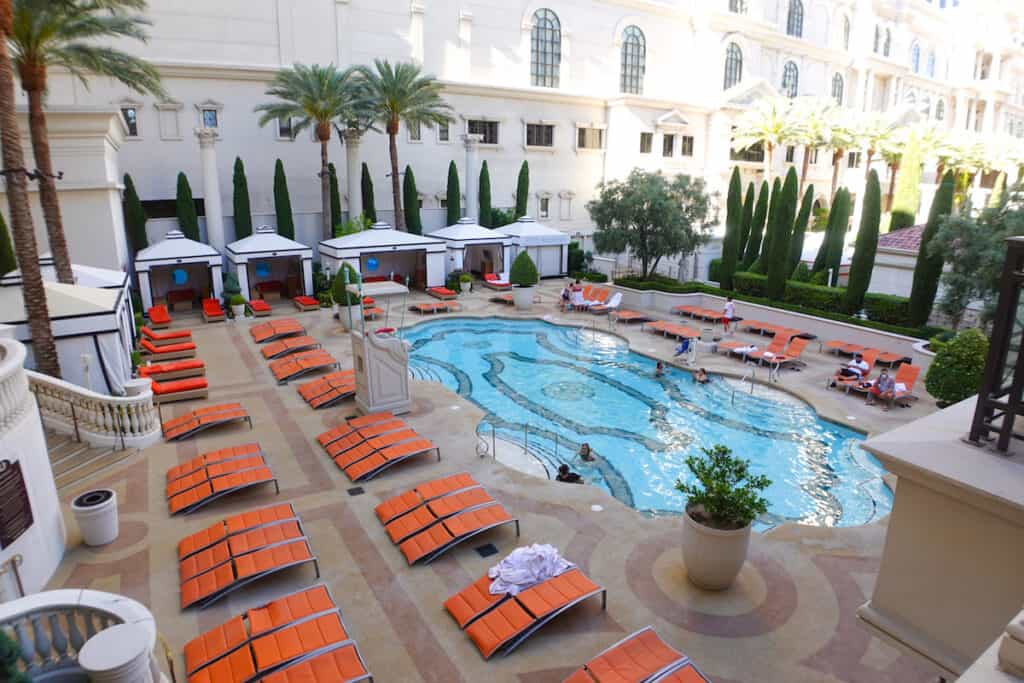 family-friendly pool in Las Vegas at Caesars Palace Las Vegas