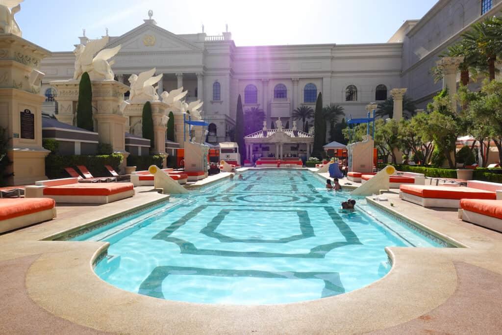 adult only luxury pool Las Vegas at Caesars Palace Las Vegas