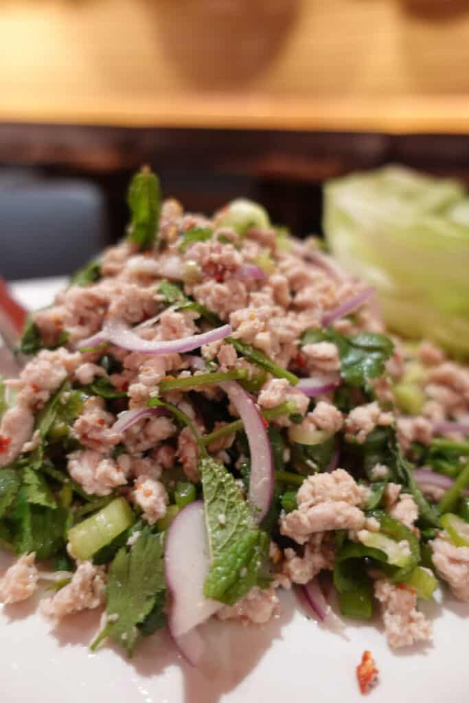 Larb Gai Thai salad at Night + Market Las Vegas