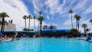 people enjoying pool at las vegas hotel. Blu Pool at Bally's Las Vegas