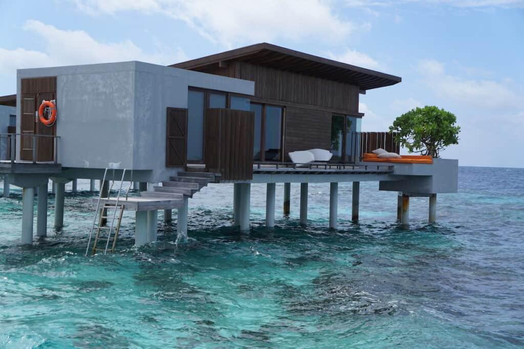 overwater bungalow villa in maldives