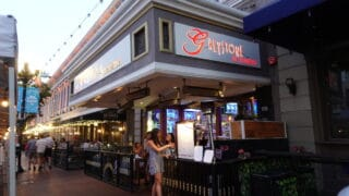 front of steakhouse restaurant in san diego gaslamp district, greystone steakhouse