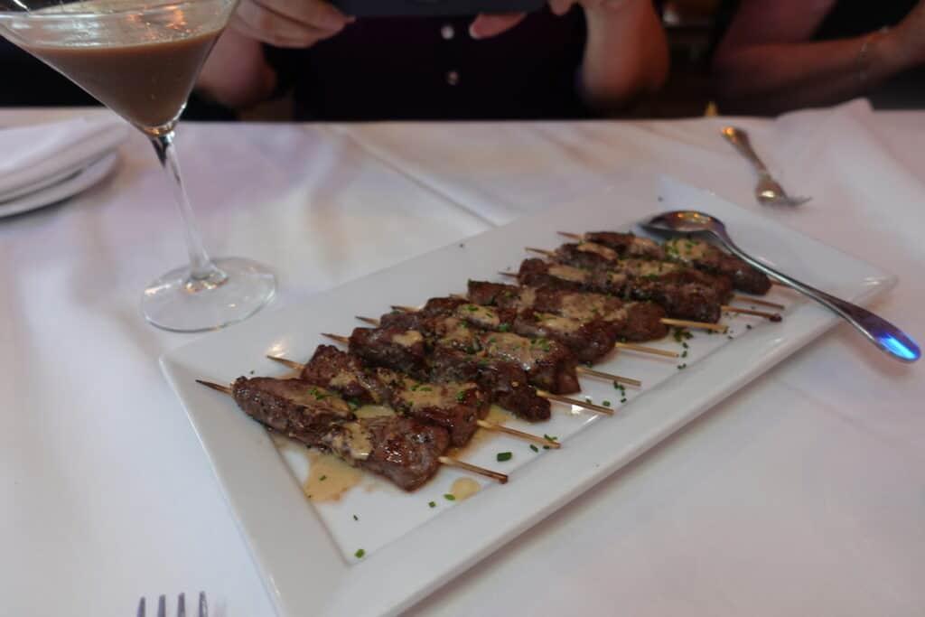 steak skewers greystone steakhouse san diego