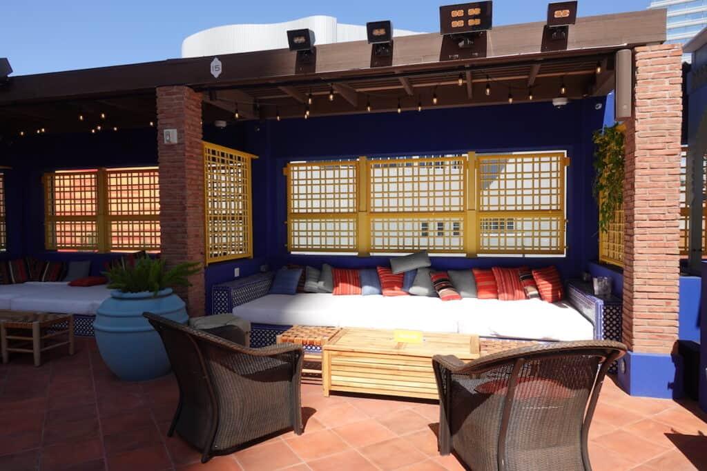 Moroccan themed pool cabana at Nomad Las Vegas pool