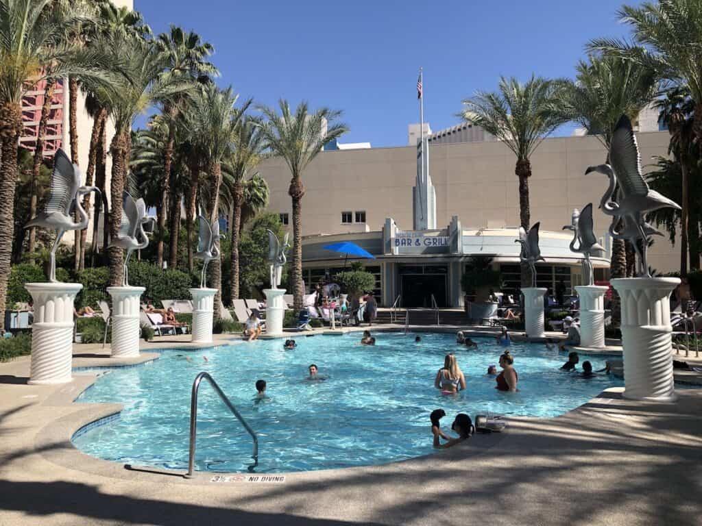 family-friendly pool in Las Vegas, Flamingo Pool Beach Club