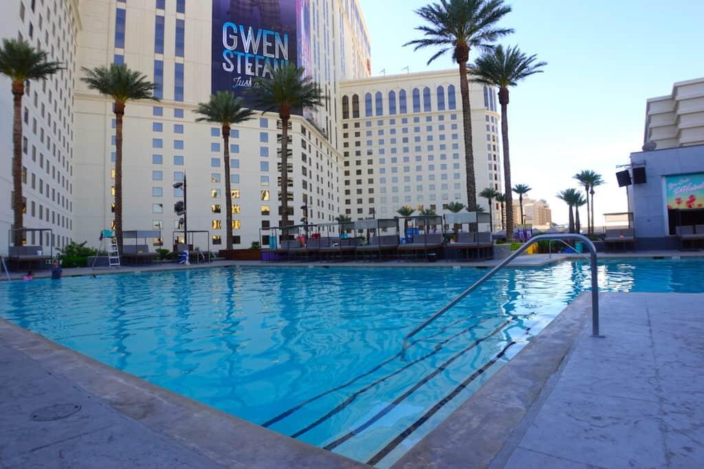nroth pool at Planet Hollywood Las Vegas pool