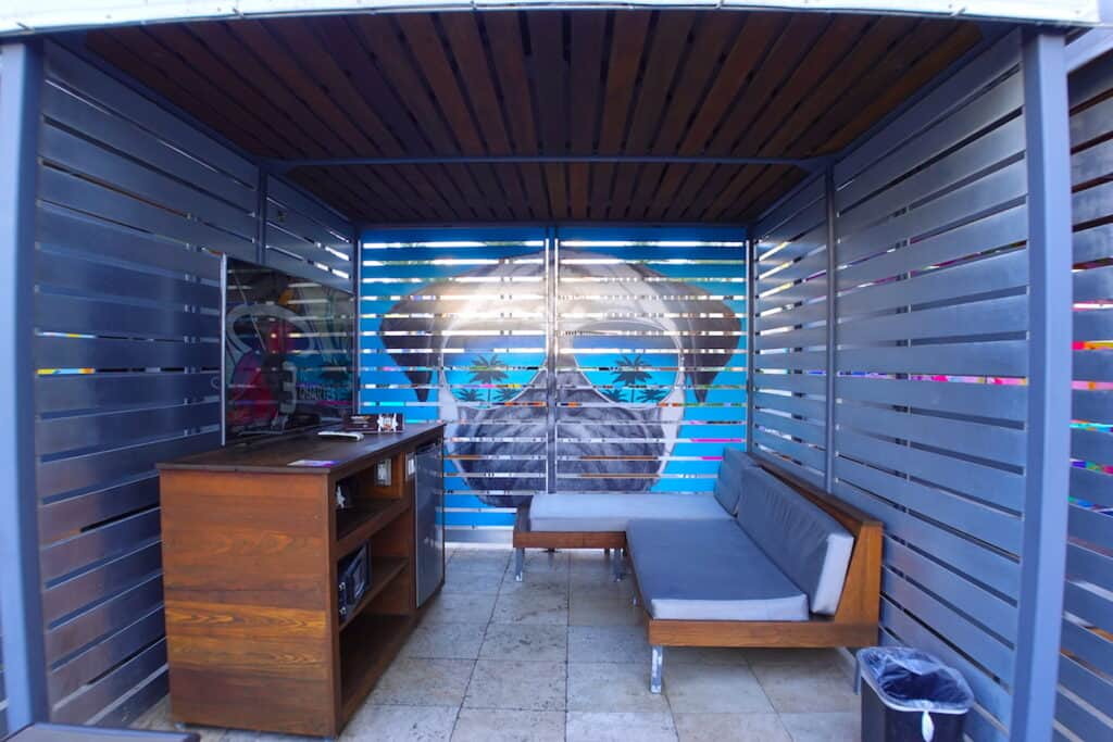 Cabana and daybed rentals are available at the Planet Hollywood Las Vegas pools.