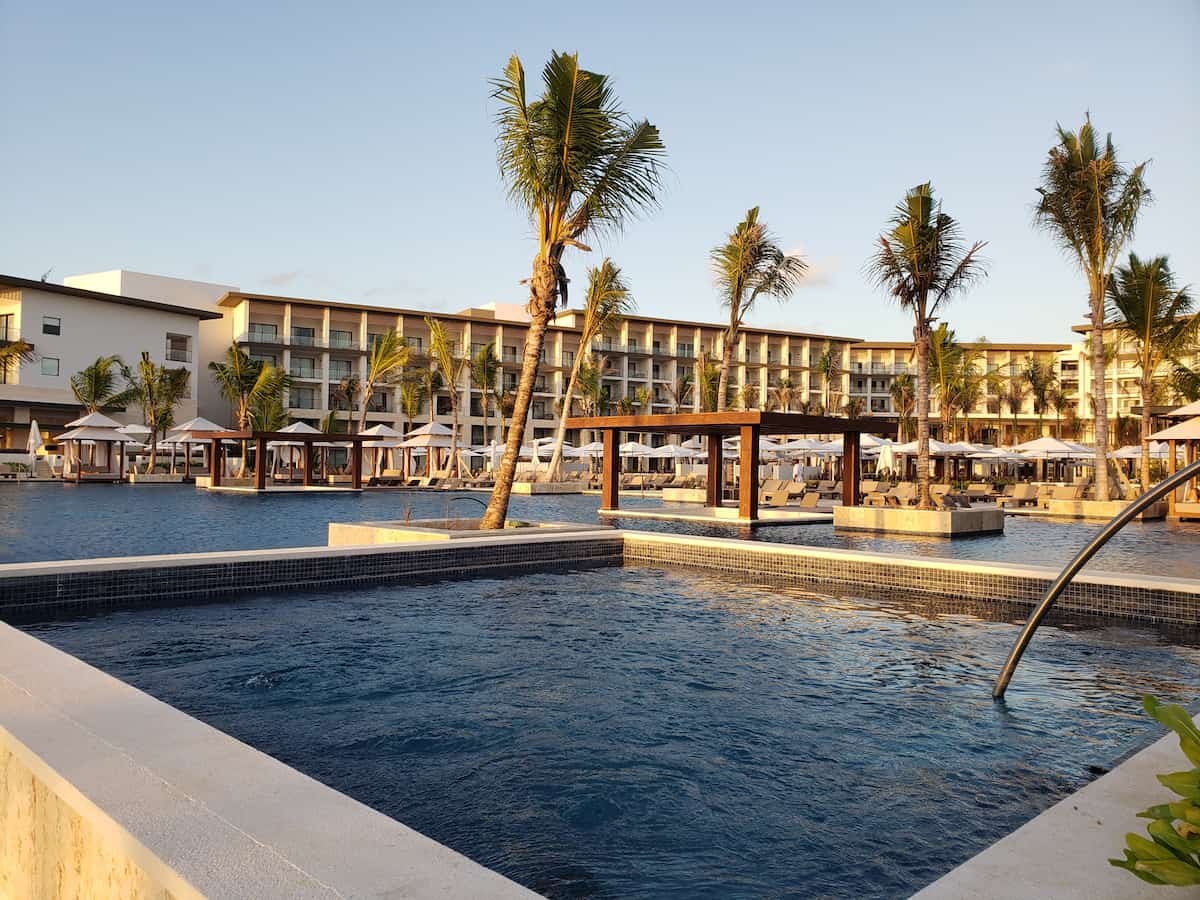 view of infinity pool and building 6 at Hyatt Zilara Cap Cana