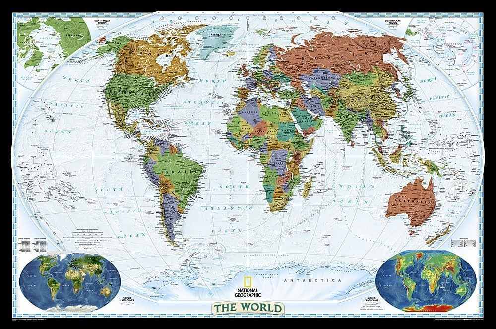 world map, travel gifts, 25 gifts for $25 or less, Traveling Well For Less