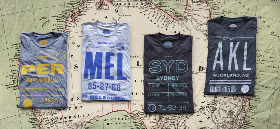 airport code t-shirts, travel gifts, 25 travel gifts for $25 or less, Traveling Well For Less