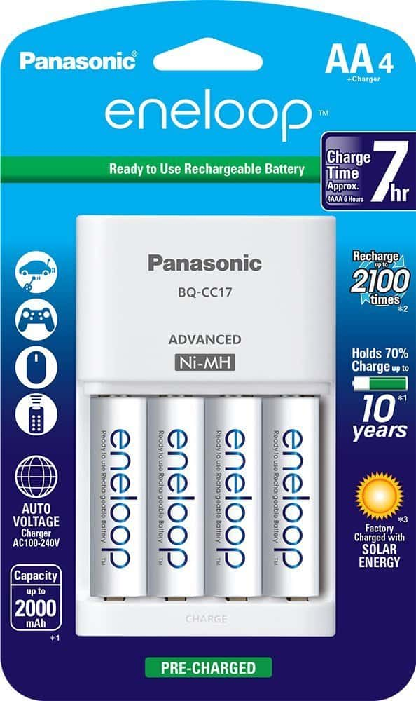 rechargeable batteries, eneloop, electronics, travel gifts, 25 travel gifts for $25 or less, Traveling Well For Less