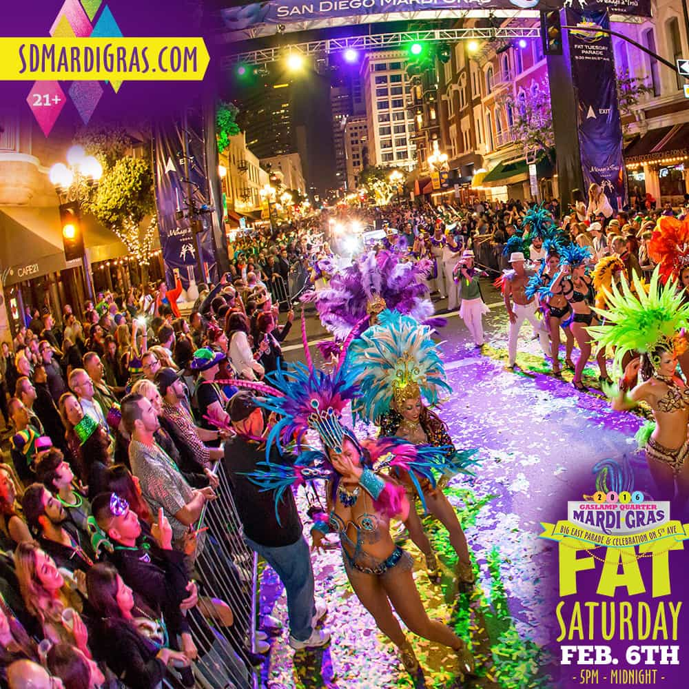 Mardis Gras San Diego, Tin Roof, food and beverage packages, Traveling Well For Less