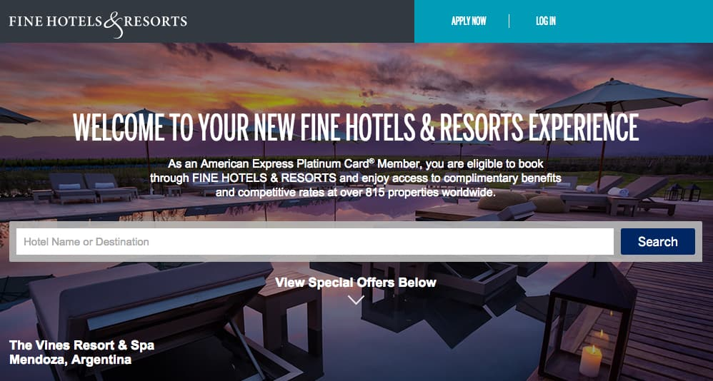free daily breakfast at hotels booked through American Express Fine Hotels & Resorts, Traveling Well For Less