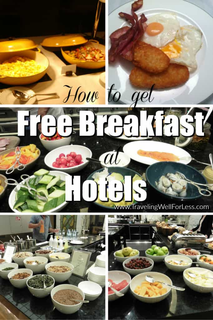 Do you know the hotels with free breakfast? Here are a few simple tricks to get free breakfast when staying at hotels. Traveling Well For Less
