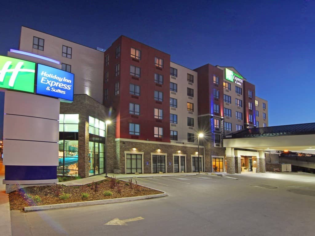 You get free hotel breakfast at IHG hotels like Holiday Inn Express & Suites Calgary , free hotel breakfast, Traveling Well For Less