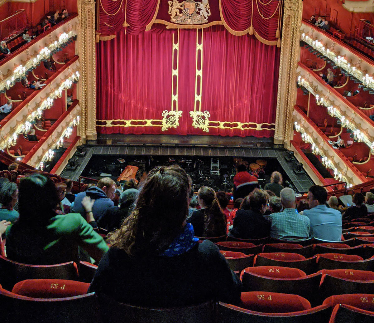interior view of Royal Opera House from Upper Amphitheatre seat