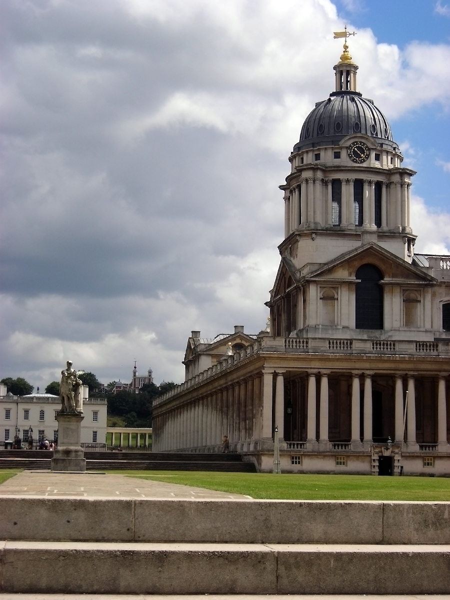 View of the Real Naval College at the Greenwich University, London, UK.