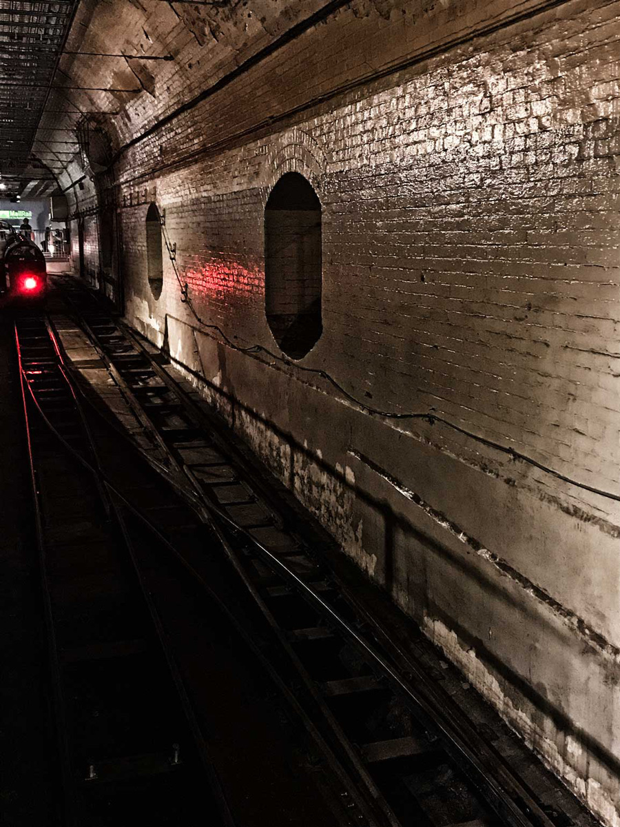 Mail Rail tunnels at London Postal Museum